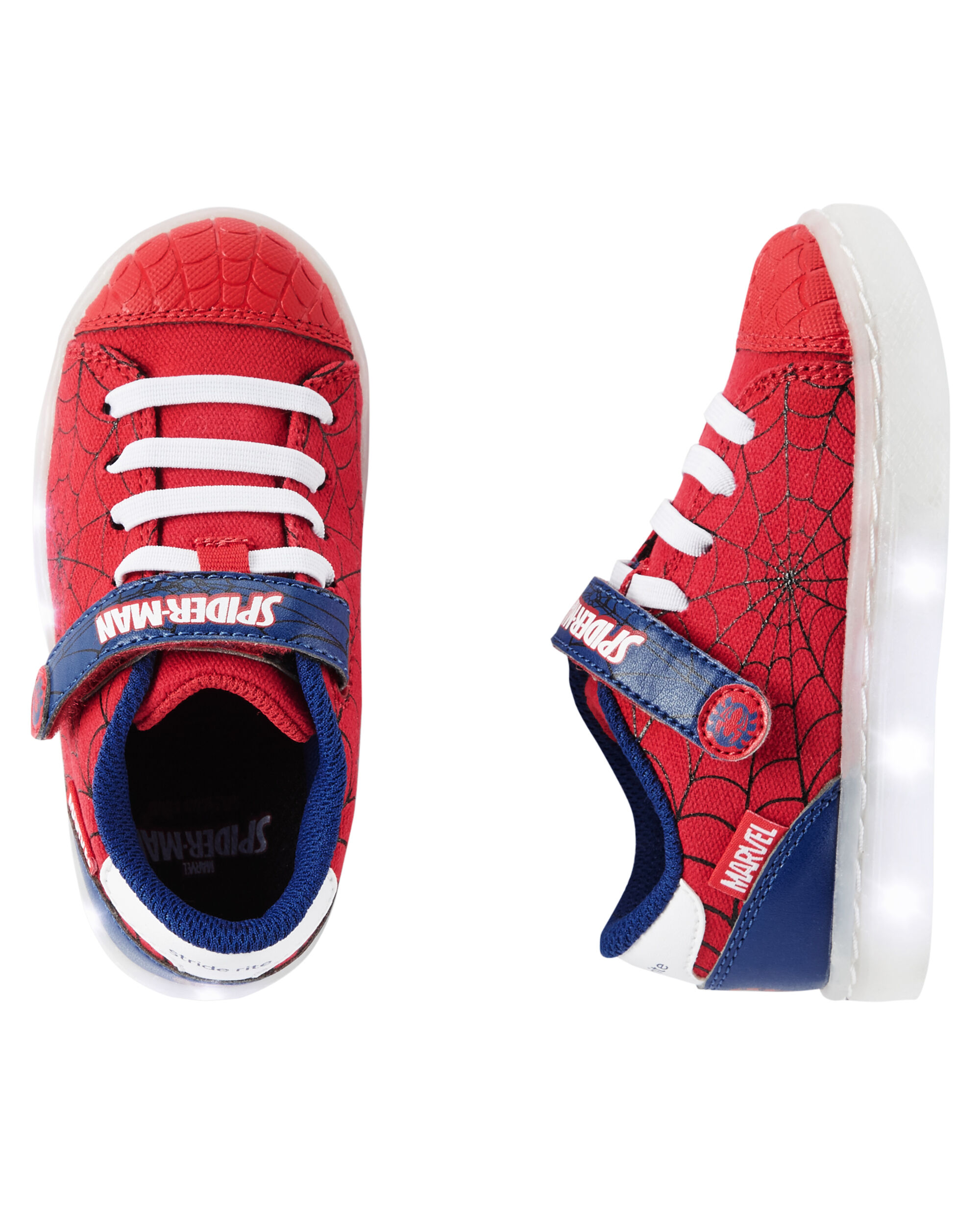Baby Boy stride rite spiderman lighted sneaker