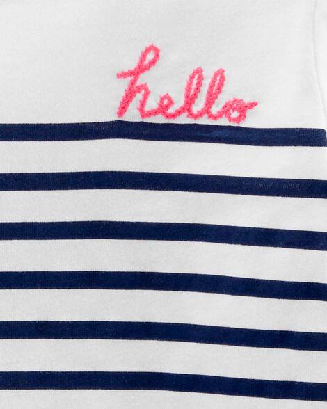 Hello Striped Tee