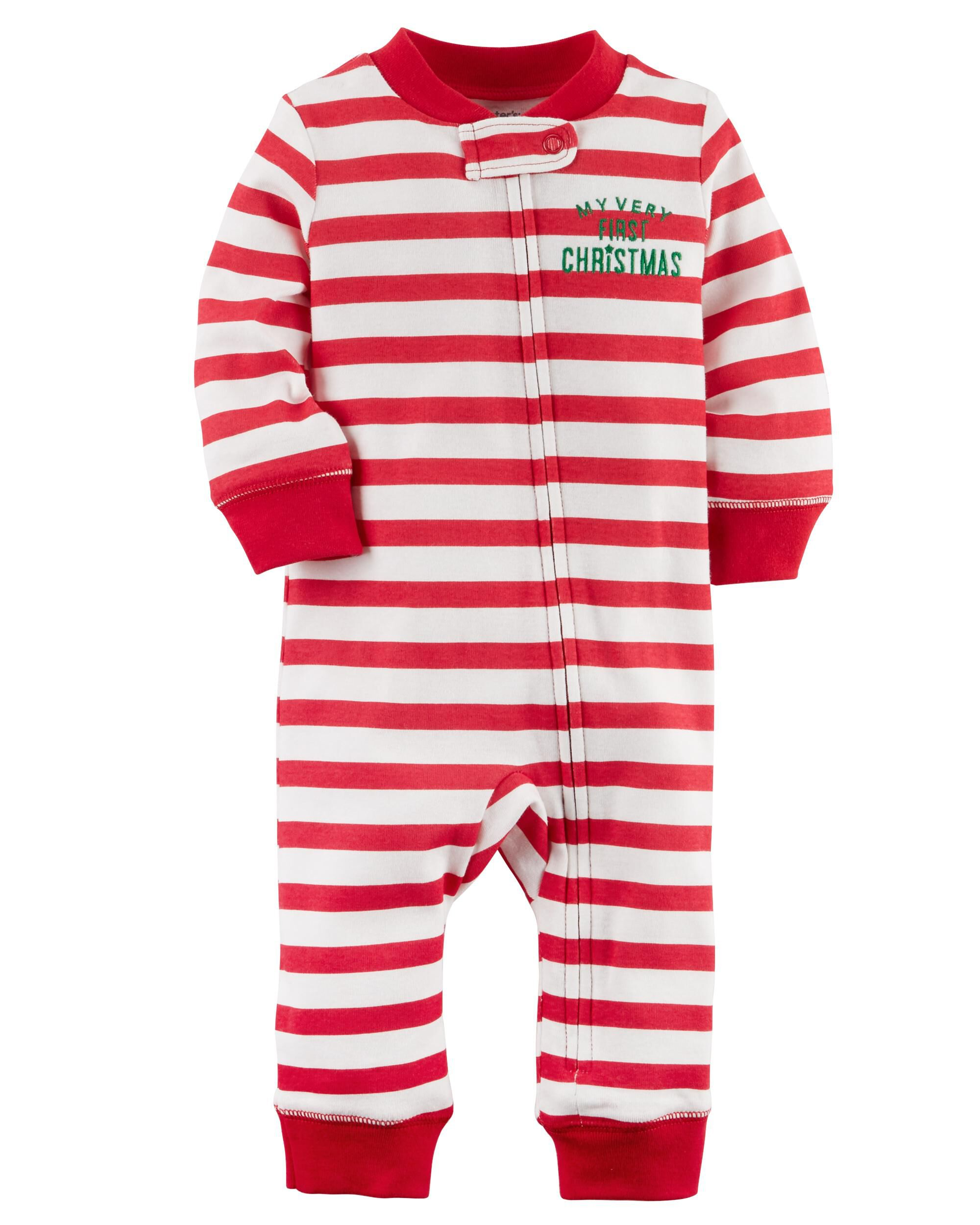 baby girl zip up christmas cotton sleep play carters com
