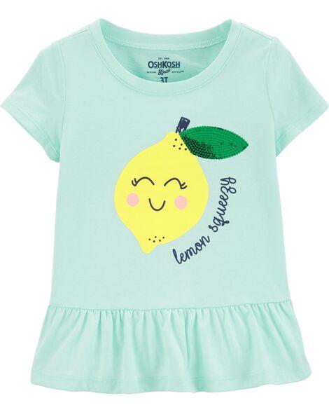 d9a5b9880 Lemon Peplum Hem Top | OshKosh.com