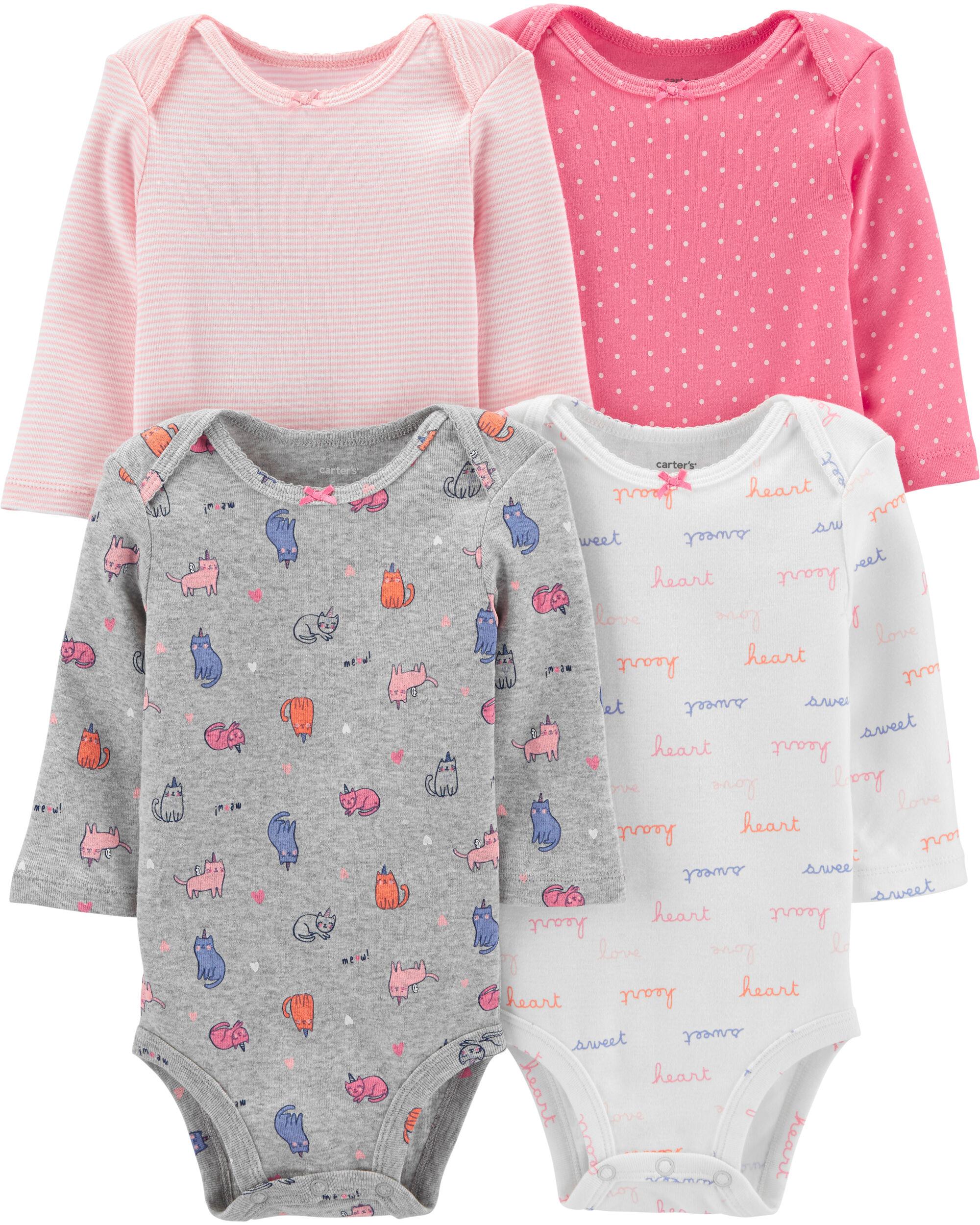 *CLEARANCE*4-Pack Cats Original Bodysuits