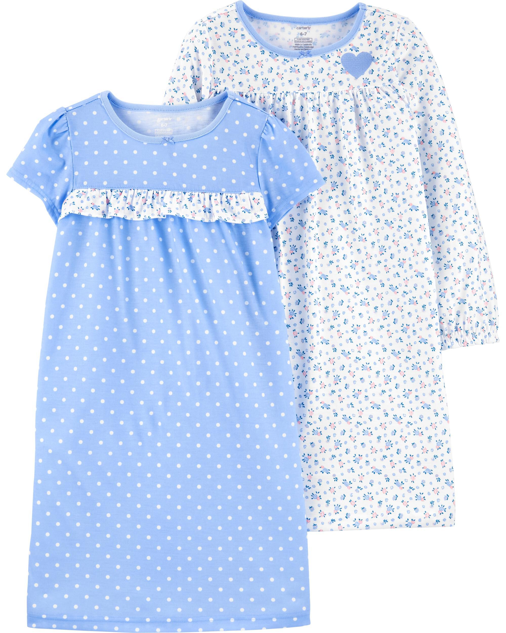2-Pack Floral Nightgowns