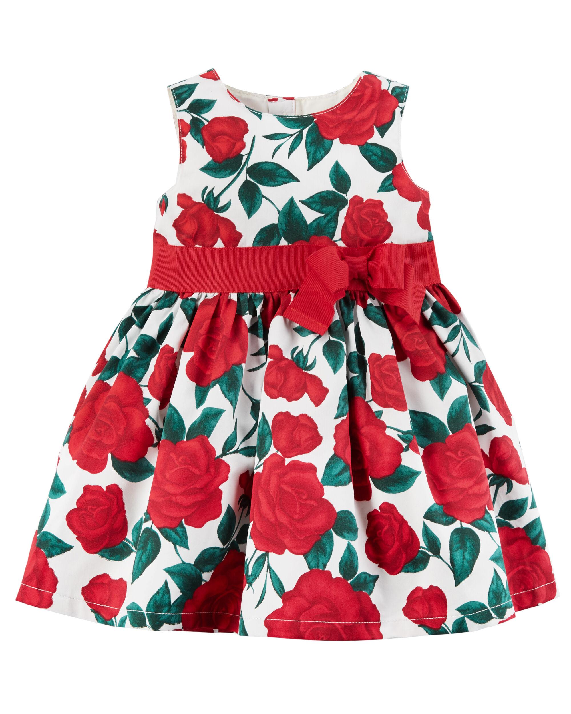 Baby Girl Rose Bow Dress