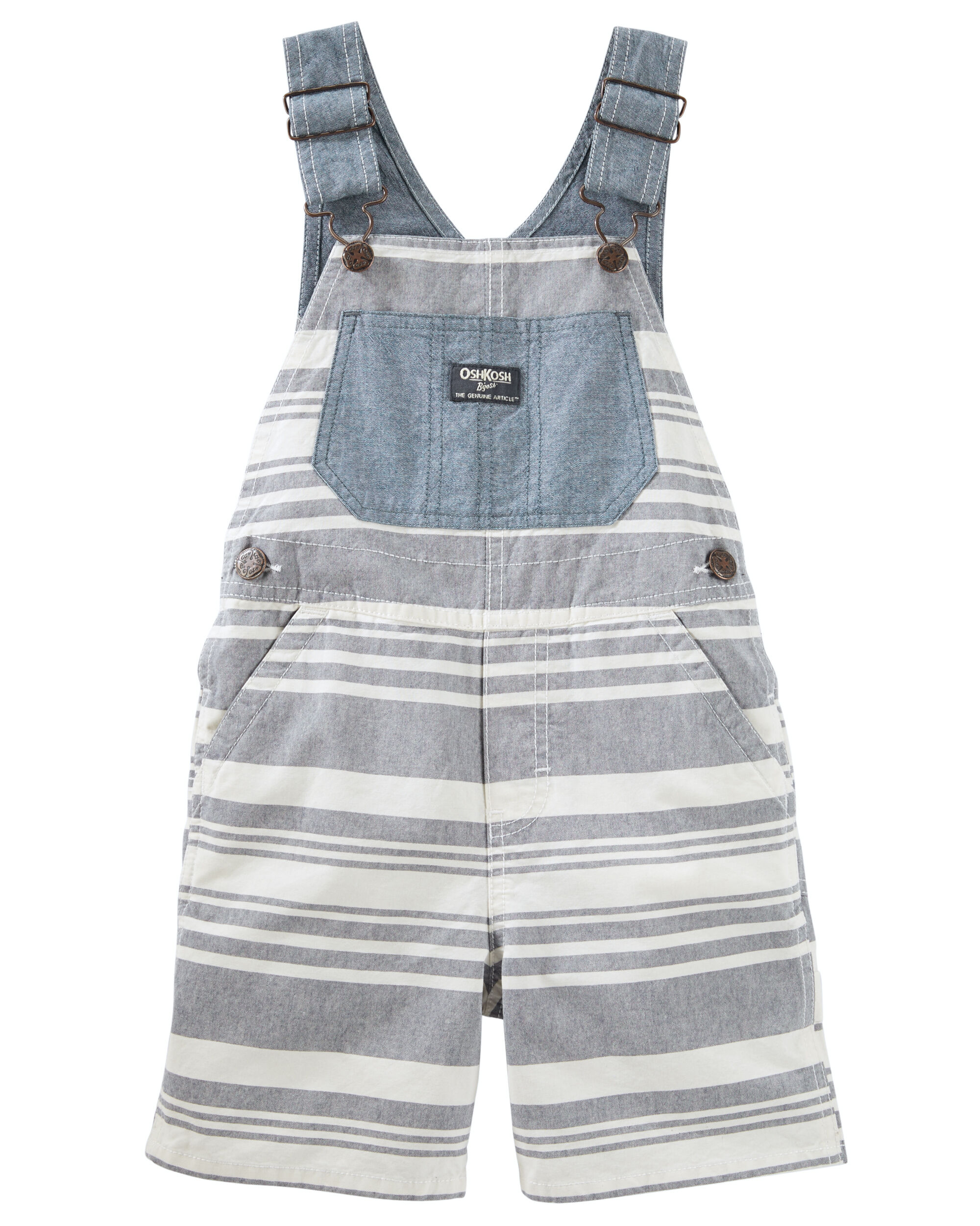6947f245a Chambray Striped Shortalls. Loading zoom