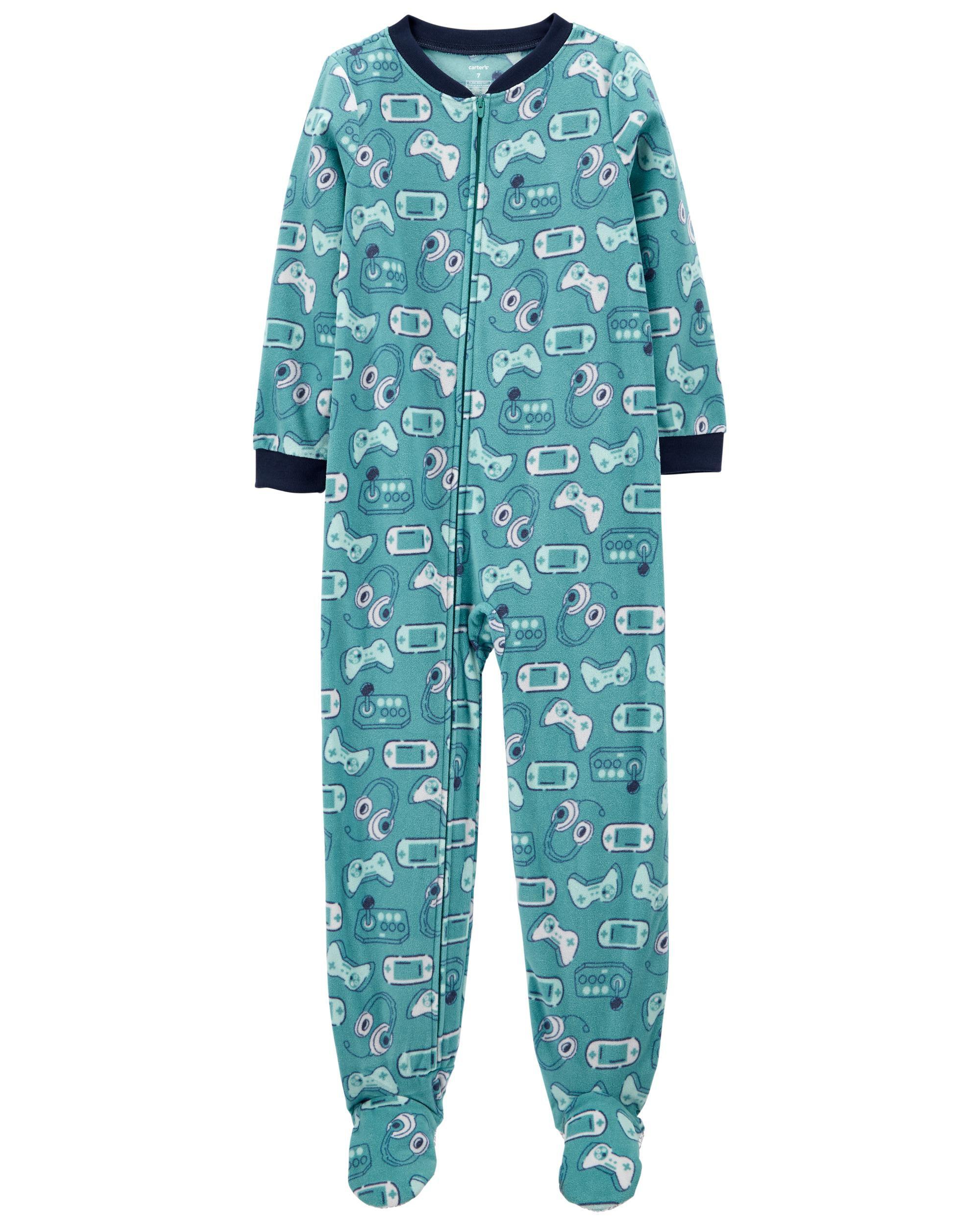 *DOORBUSTER*1-Piece Video Games Fleece Footie PJs