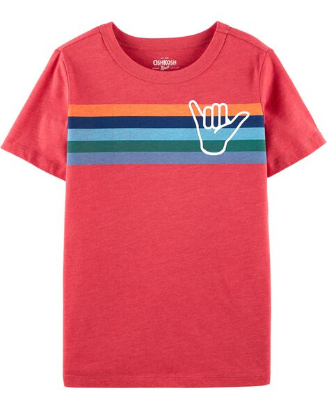 Striped Surf Jersey Tee