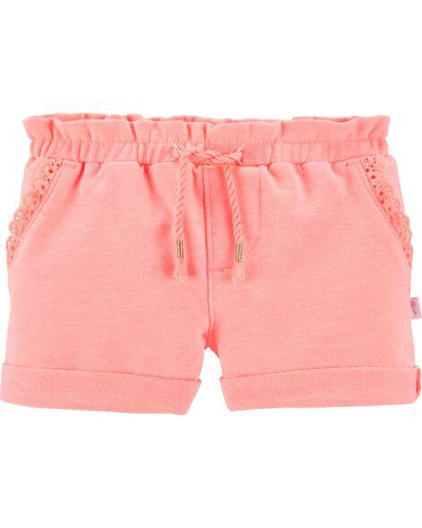 Neon Ruffle Shorts