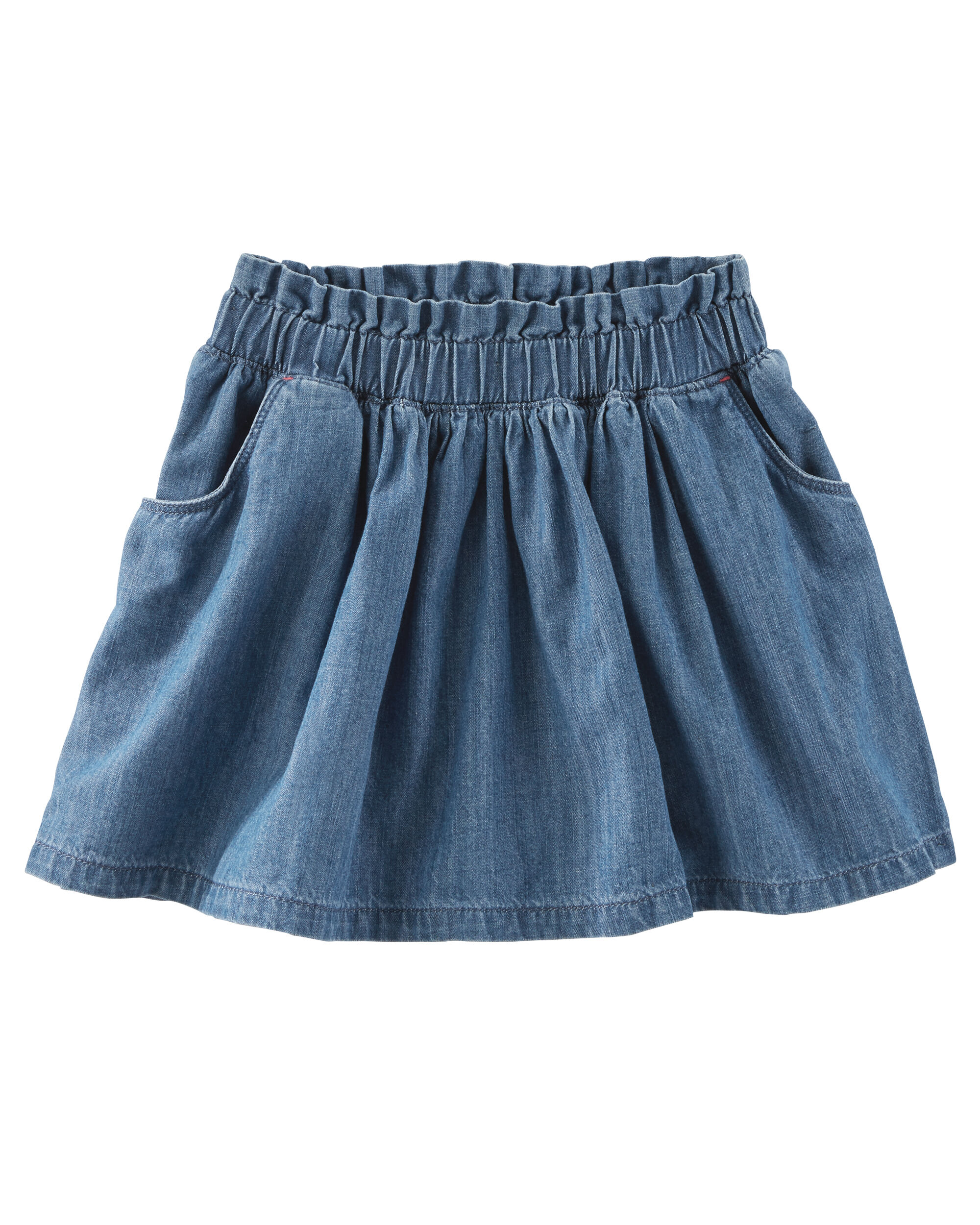 61aa58c76f Paperbag-Waist Chambray Skirt. Loading zoom