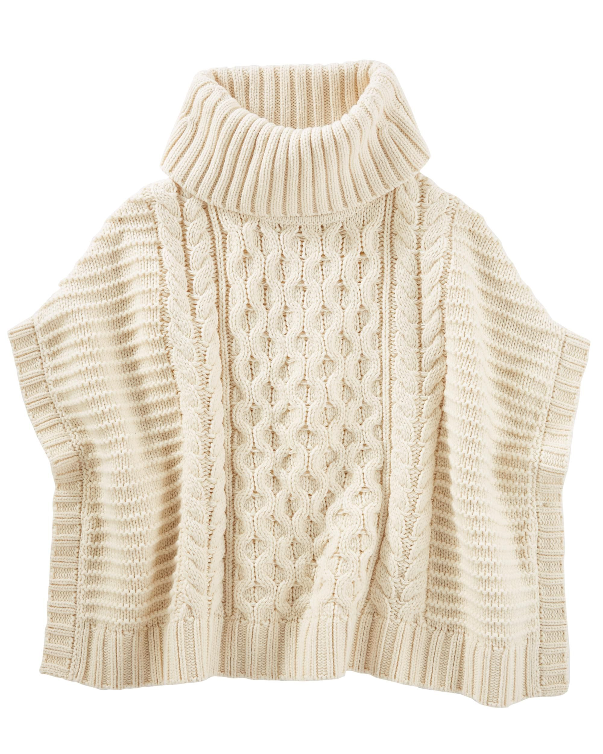 Cable Knit Poncho Oshkosh