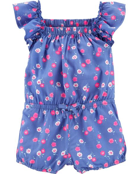 57e0bc0716a7 Baby Girl Ruffle Floral Romper