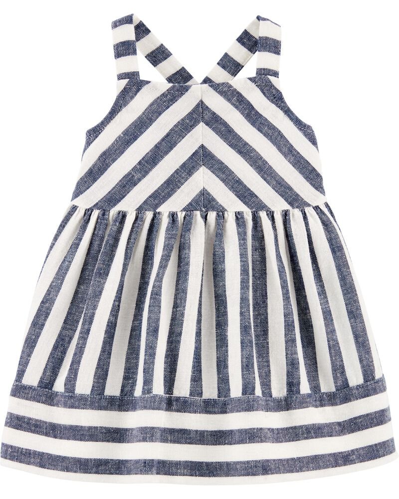 18-24m 3-4 Ready to shipStriped linen dress ChristmasRed and green striped Flutter dress toddlerAvailable size 6-12m 2-3 5-6
