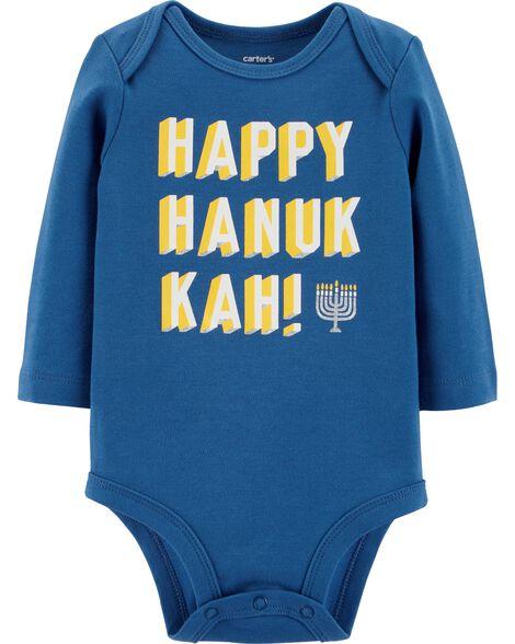ee7d37612c35 Baby Boy Happy Hanukkah Bodysuit