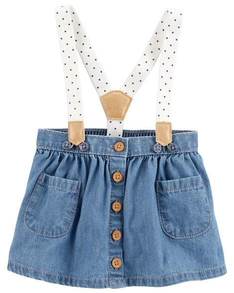 e7bf3b78b7 Polka Dot Suspender Skirt | OshKosh.com