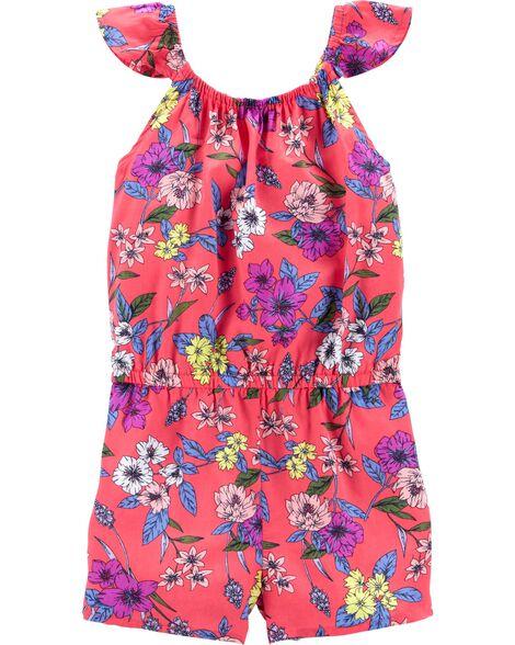 0a7ea1ad7 Shoptagr   Flutter Sleeve Floral Romper by Carter's