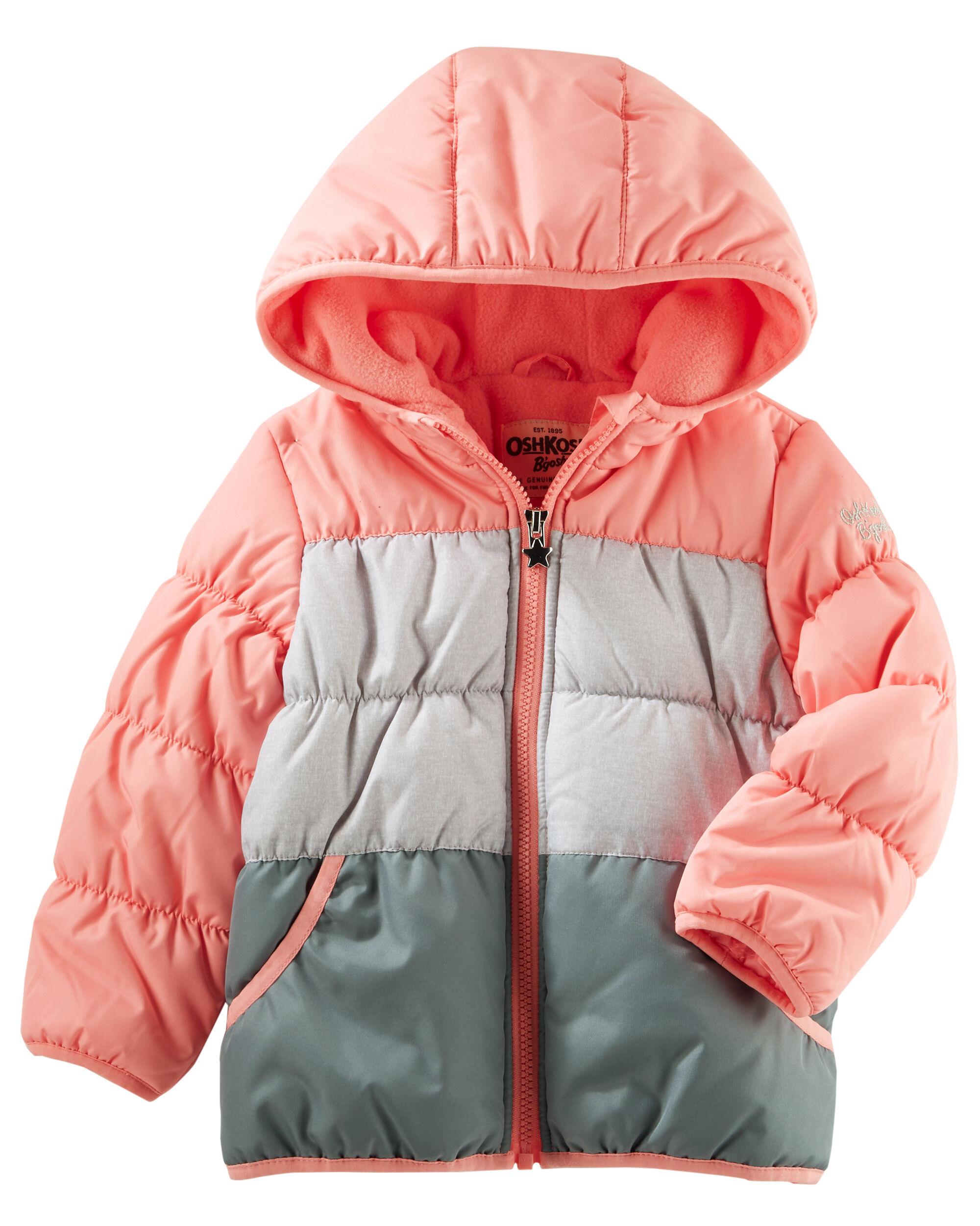 Toddler Girl Jackets, Coats & Vests | OshKosh | Free Shipping