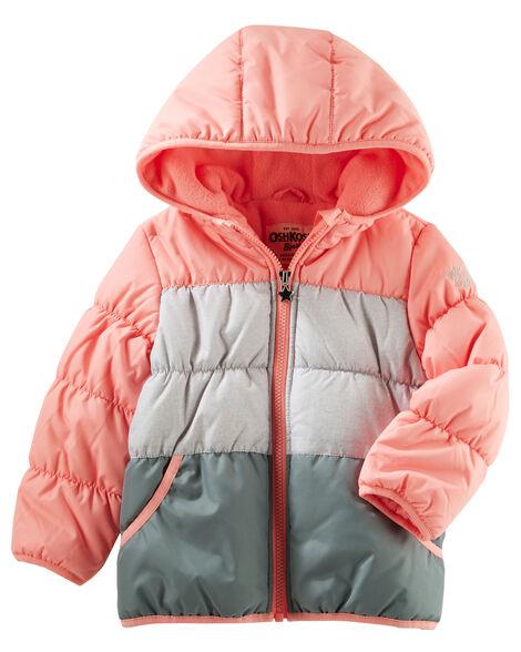 a93005e102da Hooded Colorblock Bubble Jacket