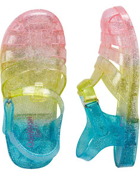 ba8a1447baf1 OshKosh Rainbow Jelly Sandals ...