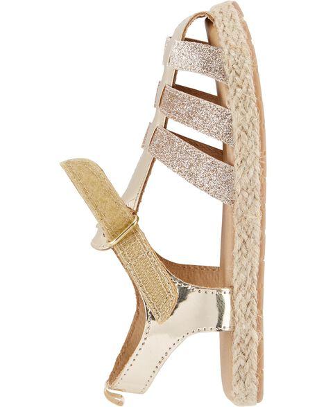 OshKosh Gold Glitter Sandals
