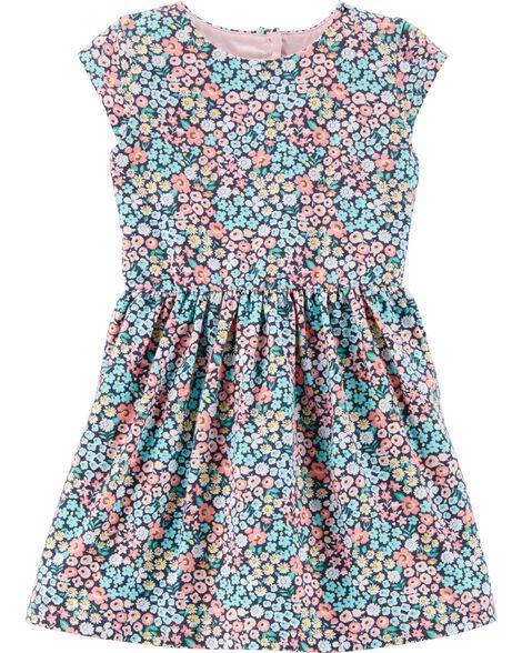 29782ed08 Toddler Girl Floral Jersey Dress
