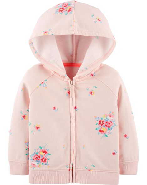 French Terry Floral Hoodie