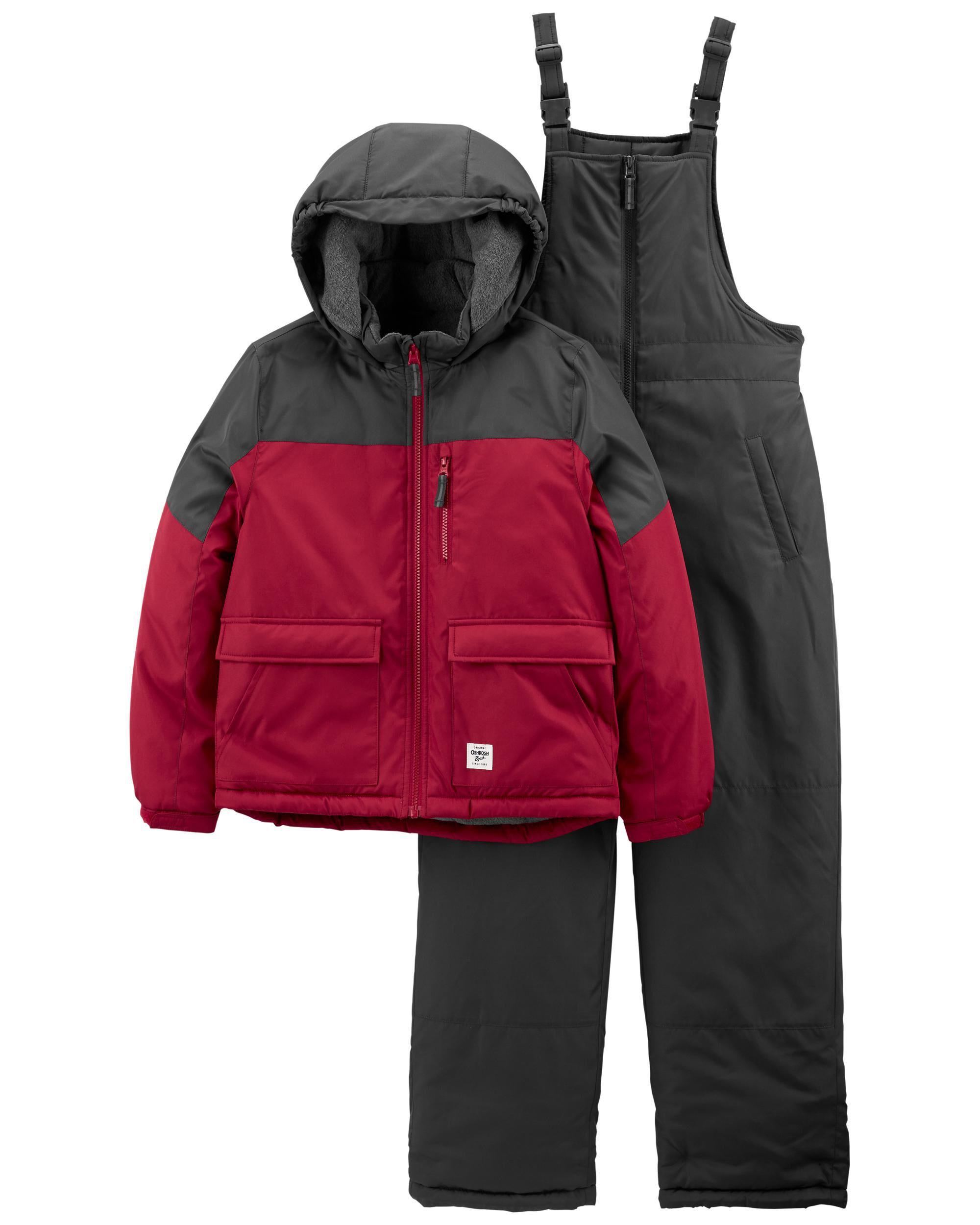 2-Piece Colorblock Parka & Snowsuit Set