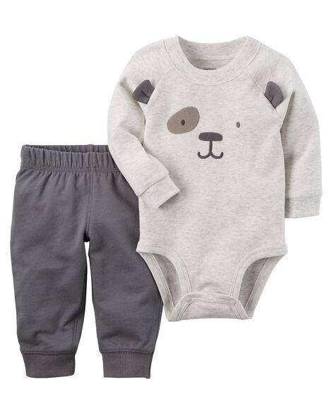 c2f0d4a3e Baby Boy 2-Piece Bodysuit Pant Set