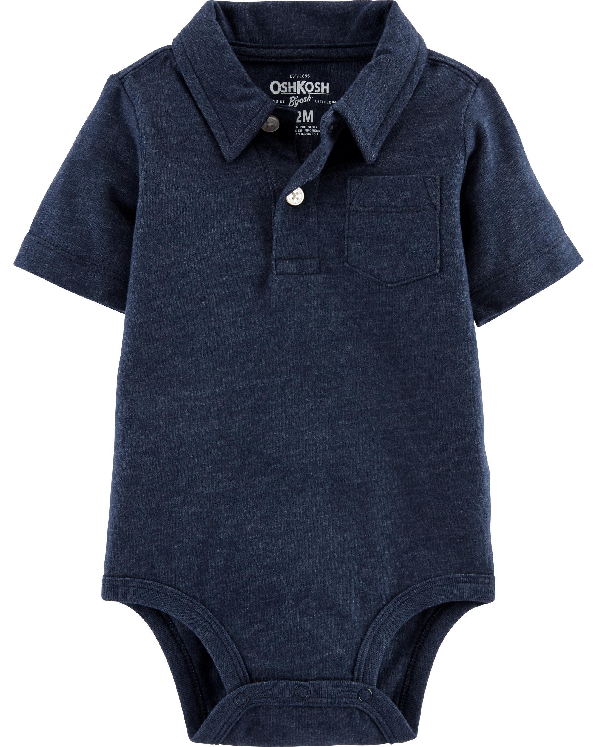 Genuine Kids Made By Oshkosh Infant//Toddler Boys Short Sleeve Polo Shirt Red