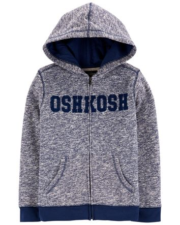NEW OshKosh Logo Hoodie Boys Sweatshirt Jacket Stripe 8,10-12