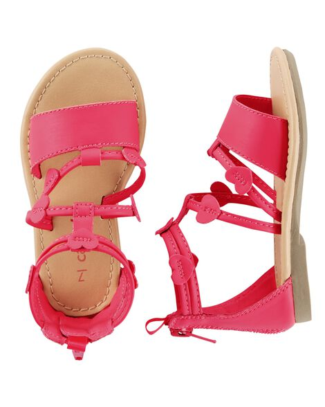 0a560dc481f9 Baby Girl Carter s Heart Strappy Sandals