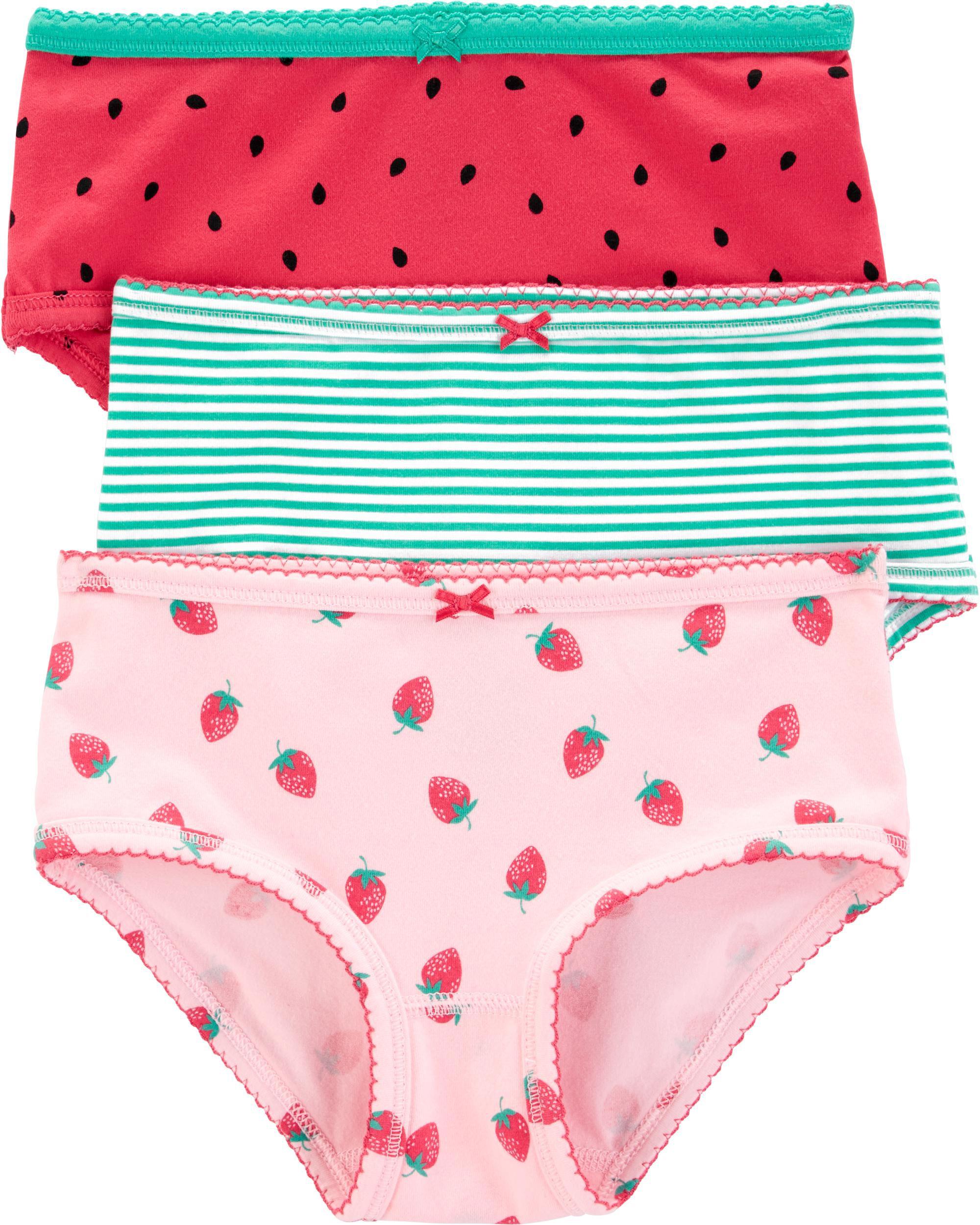 3-Pack Strawberry Stretch Cotton Undies