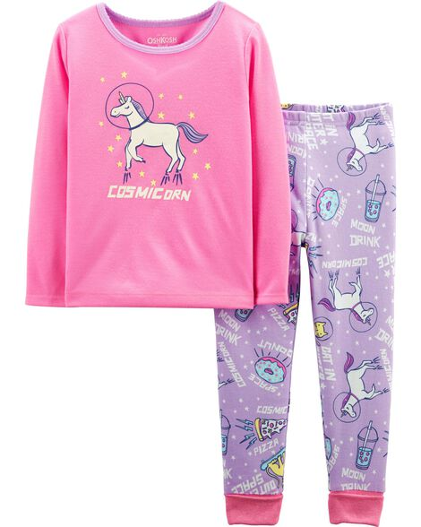 2-Piece Cosmic Unicorn PJs