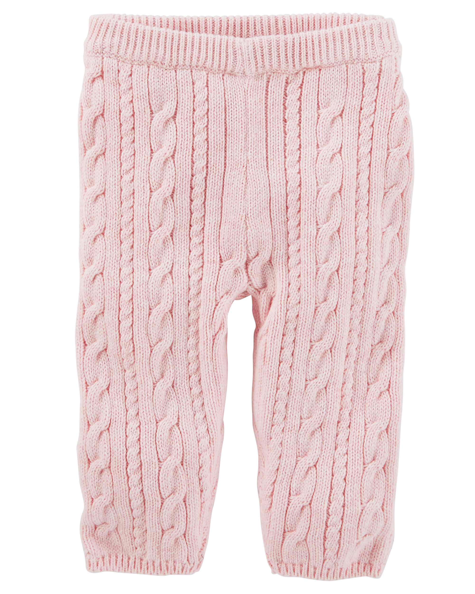 Pull-On Cable-Knit Pants