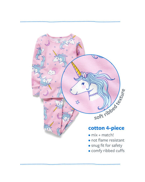... 4-Piece Swan Snug Fit Cotton PJs 1931d3789