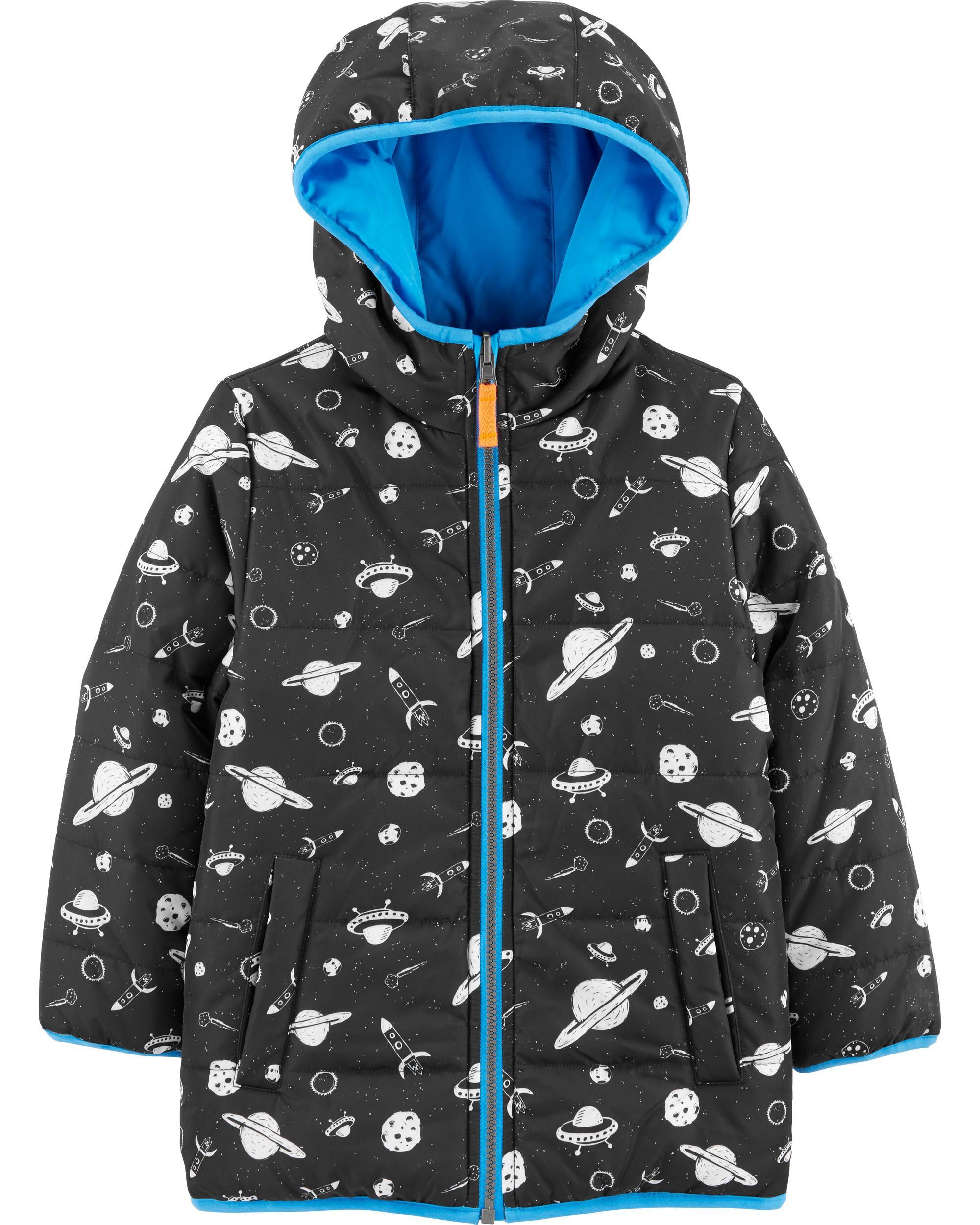 Osh Kosh B/'gosh Infant Girls Space Print Fleece Lined Jacket Size 12M 18M 24M