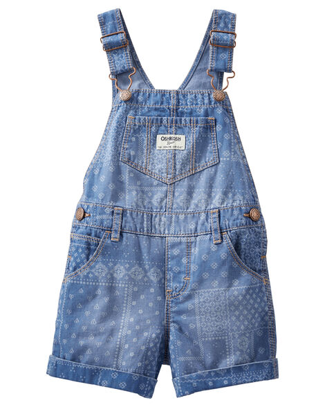 Patchwork Handkerchief Denim Shortalls