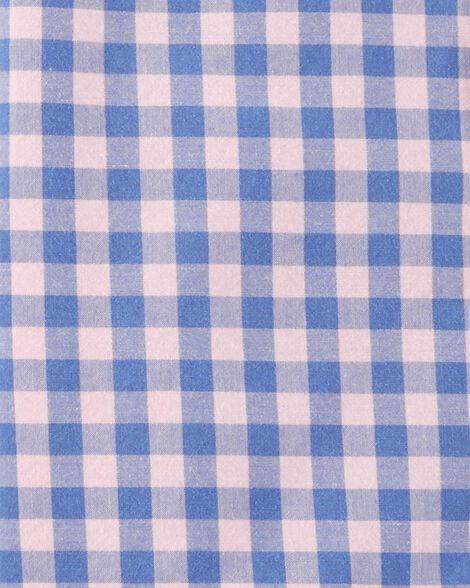 Checkered Button-Front Shirt