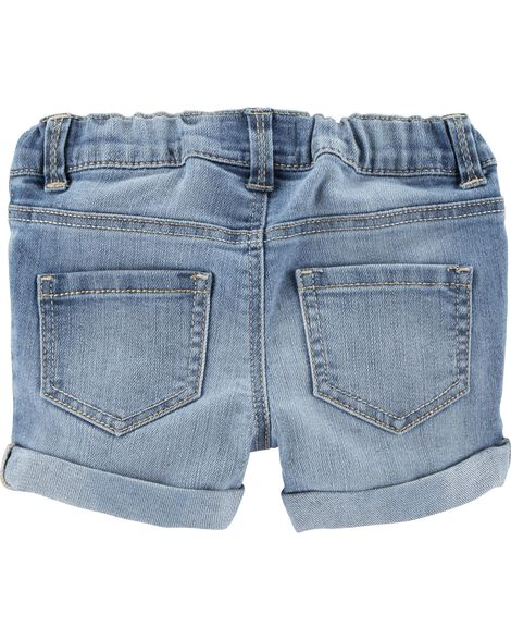 Denim Shorts - Sky Blue Wash