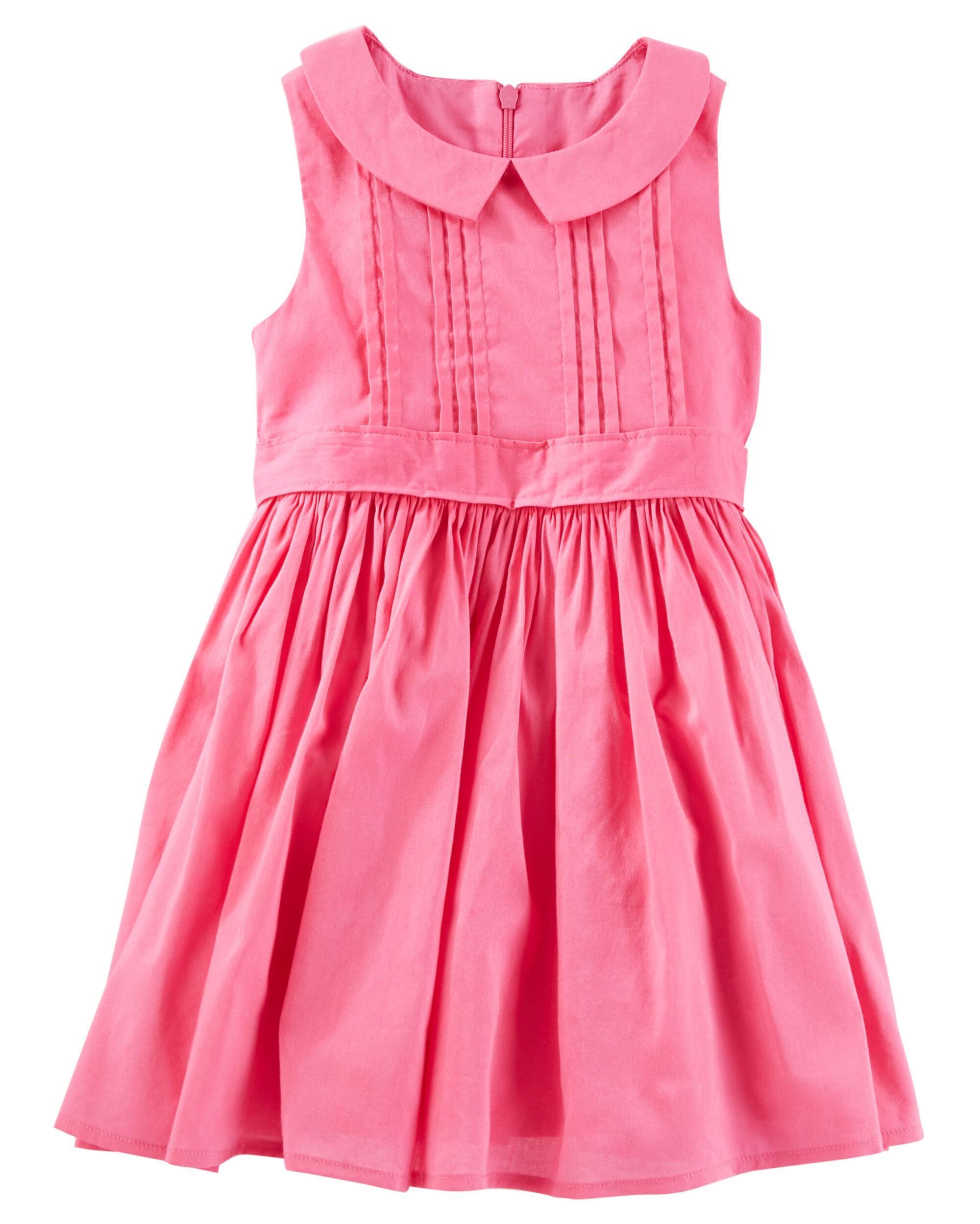 Pleated Peter Pan Collar Dress | OshKosh.com