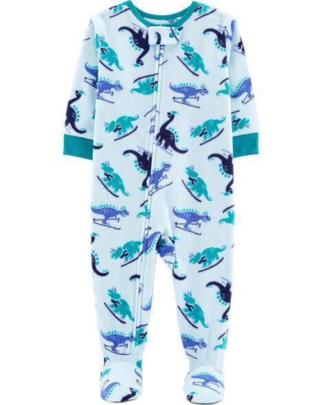 3bd9758de949 1-Piece Dinosaur Fleece PJs