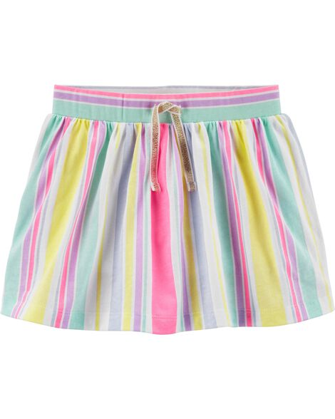 Neon Stripes Scooter Skirt