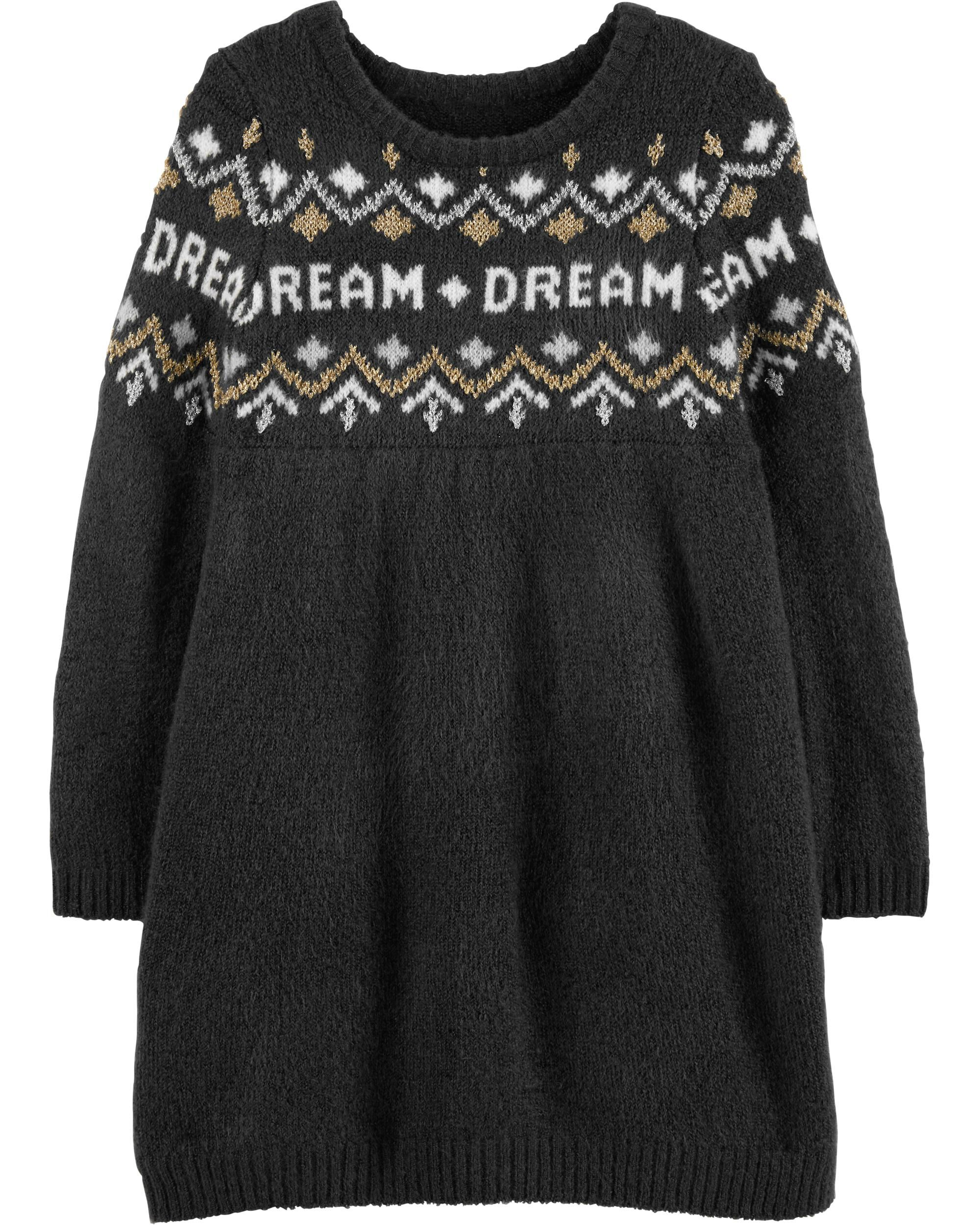 864aa84d004 Toddler Girl Glitter Dream Sweater Dress
