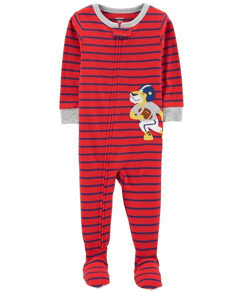 d8b8663d7 Toddler Boy 1-Piece Tiger Snug Fit Cotton PJs