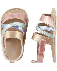 551af8bae41d OshKosh Metallic Sandal Crib Shoes