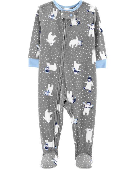 18e18e8ef 1-Piece Polar Bear Fleece PJs | OshKosh.com