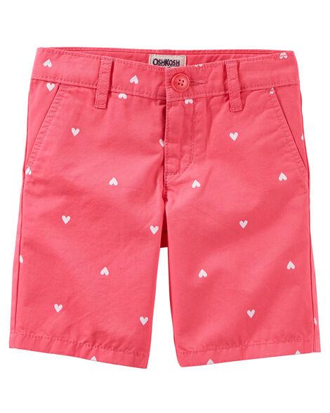 Heart Print Uniform Shorts