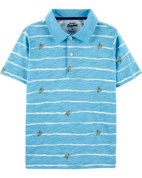 Surfing Skeleton Jersey Polo