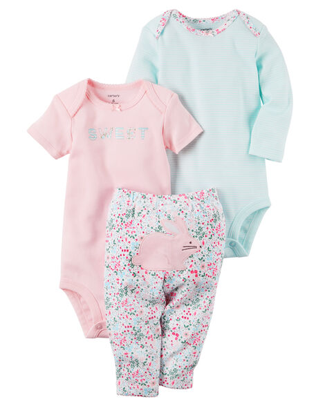 0397659186f Baby Girl 3-Piece Little Character Set