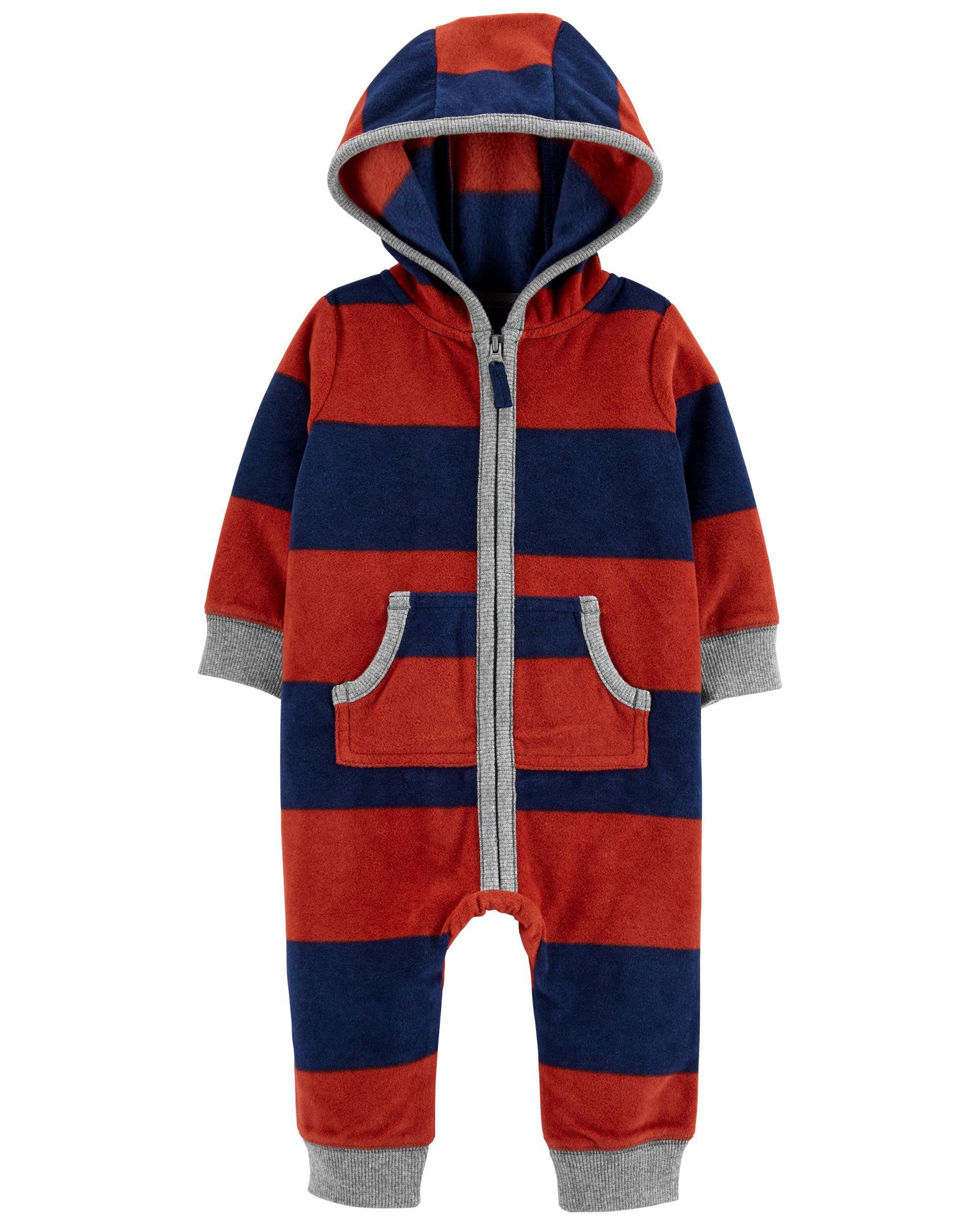 *CLEARANCE*Raccoon Zip-Up Fleece Jumpsuit