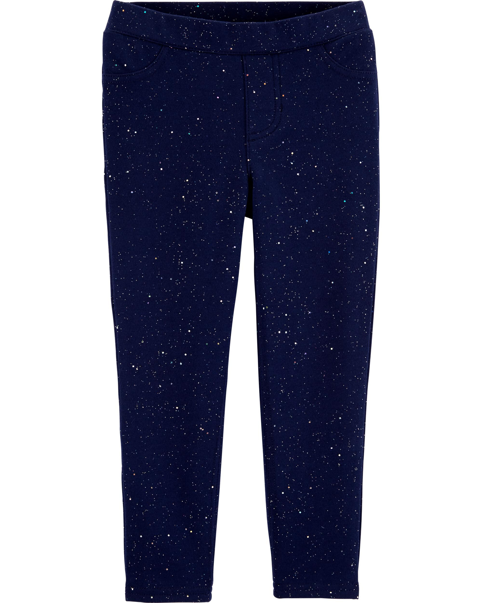 *CLEARANCE*Sparkly Pull-On French Terry Jeggings