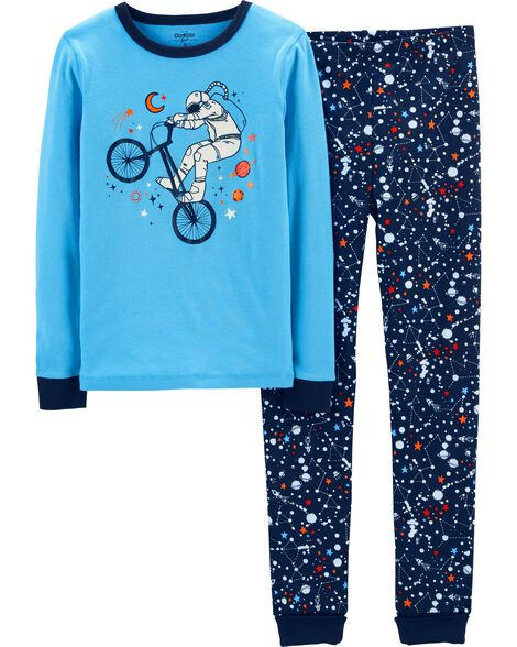 7f233b8712 Snug Fit Glow-in-the-Dark Cotton PJs ...